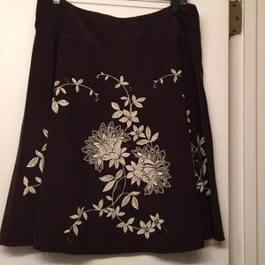 Talbots Petites Corduroy Beaded Skirt 14P